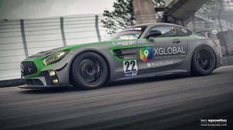 Mercedes AMG GT4 treina em Interlagos para a Mil Milhas do Brasil